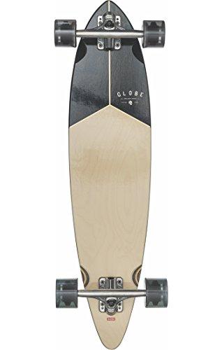 GLOBE Skateboards Pintail 34 Longboard Complete Skateboard, Walnut/Black