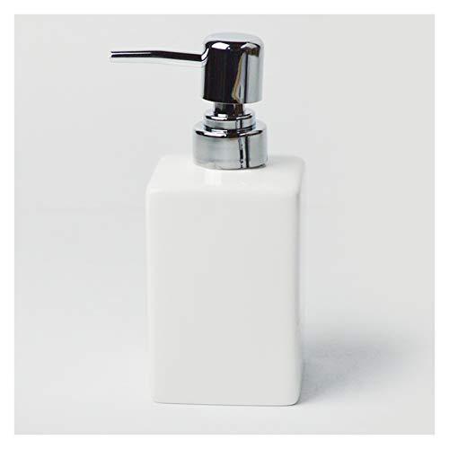 Dispensadores de loción Botella de desinfección de manos de vidrio, botella de loción del club de hoteles en blanco y negro, hecho a mano, dispensador de jabón multifuncional jabón ( Color : White )
