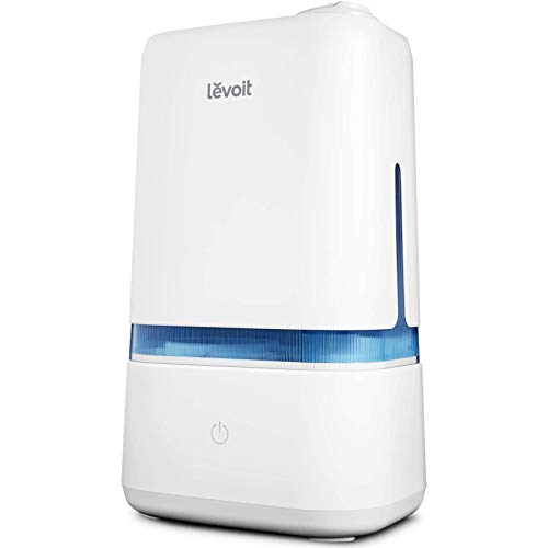 LEVOIT Humidifiers for Bedroom, 4L Cool Mist Ultrasonic for Plants Baby with Essential Oil Tray,Dual 360°Rotation Nozzles, Handle Design, Quiet Operation, Last up to 40Hours, Auto Shut Off, Blue