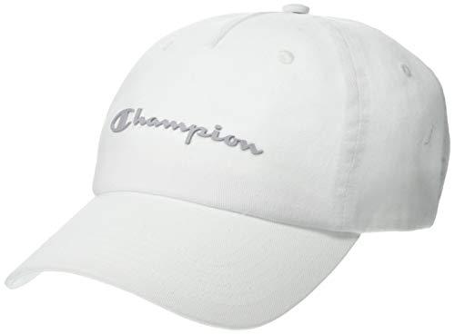 Champion Unisex-Erwachsene Script Dad Kappe, weiß, Einheitsgröße