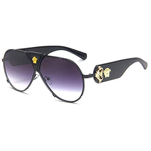 SHEEN KELLY Gafas de sol de aviador para mujer Lente espejada Gafas de sol medusa para mujer Gafas de sol de conducción Protección UV400