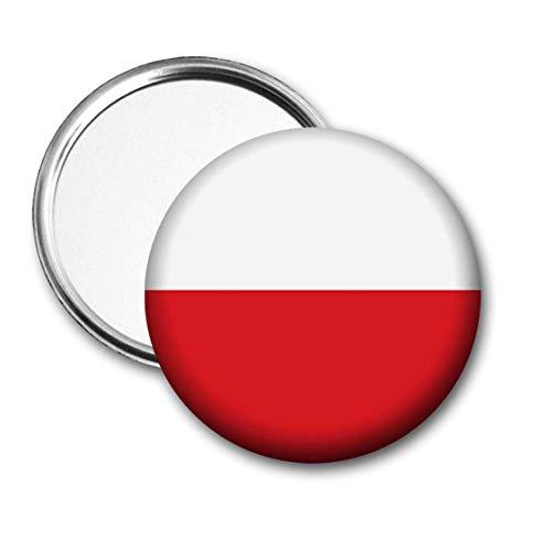 Polen Vlag Pocket Spiegel voor Handtas - Handtas - Gift - Verjaardag - Kerstmis - Stocking Filler - Secret Santa