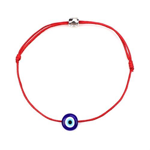 CXWK Pulseras de Ojo Malvado de la Suerte para Mujer, 6 Colores, Cuerda Trenzada Hecha a Mano, joyería de la Suerte, Pulsera roja para Mujer