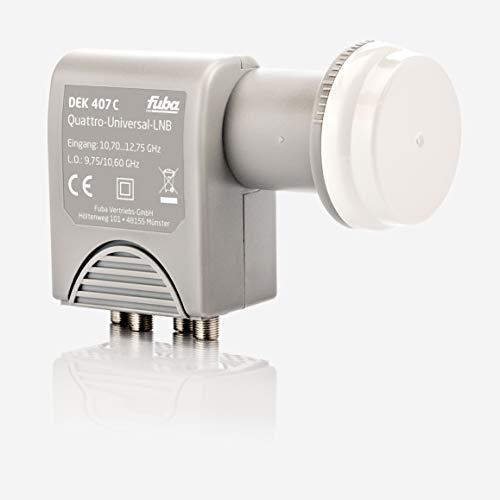 Fuba DEK 407 C Quattro LNB - Quattro Universal LNB für Multischalterbetrieb mit optimaler Mobilfunkabschirmung, mit Wetterschutzgehäuse (digital, HDTV-tauglich, 4K/UHD-tauglich, 3D-tauglich)