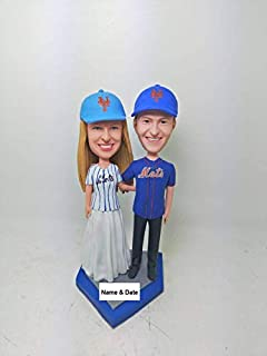 Interracial bobble head wedding toppers does