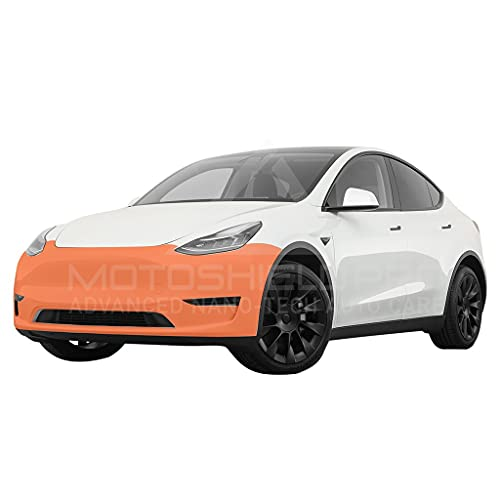 MotoShield Pro Precut Car Self-Healing Paint Protection Film, Clear Bra Paint Protection Film for DIY or Professional Use - for Tesla Model Y (Front Bumper Only)