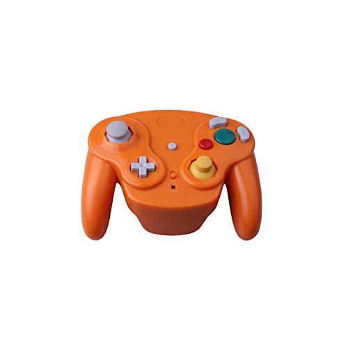 Controlador de juegos de iluminación |Controlador de juego inalámbrico para NGC Gamepad Joystick para Game-Cube para Nintendo para NGC para Wii-Orange-