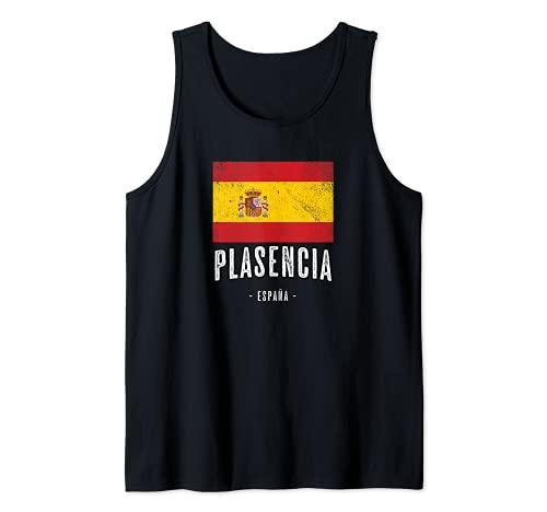 Plasencia España   Souvenir Linda Ciudad - Bandera - Camiseta sin Mangas