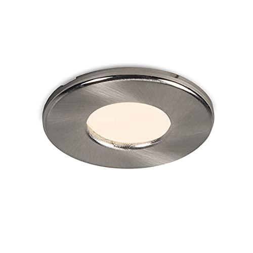 Qazqa Spot extérieur   Spot de Jardin Moderne - Hole Lampe Acier - GU10 - Convient pour LED - 1 x 50 Watt