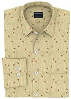Tailorman Beige with Red Flower Print Shirt