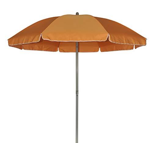 TrendLine Sonnenschirm orange Ø 180 cm UV-Schutz: 60+ Sonnenschutz Strandschirm