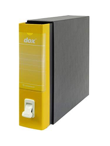 Esselte Dox 1 Raccoglitore a Leva Formato Commerciale D8, A4,  Giallo, Confezione da 6 Pezzi