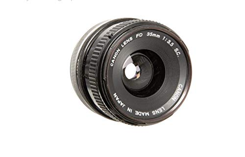Canon FD 35mm 1:3.5 S.C. Prime Lens for 35mm Canon Film Camera.