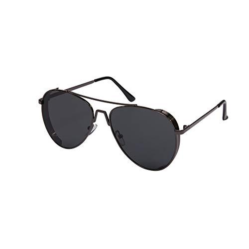 Óculos Aviador Unissex Chumbo L Cinza Uv400 Tam 58X20X135Mm