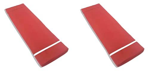 TIENDA EURASIA Pack 2 Cojines para Tumbona Exterior de Jardin - Colchoneta 180 x 55 x 8 cm - Funda de Tela y Relleno de Fibra (Granate)