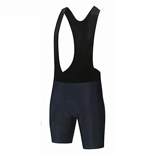 LGQ Pantaloncini con Bretelle da Ciclismo con Imbottitura da Competizione Pantaloncini con Bretelle da Ciclismo per Uomo con Assorbimento dell'umidità,XXL