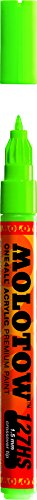 Molotow ONE4ALL Acrylic Paint Marker, 1.5mm, Neon Green Fluorescent, 1 Each (127.432)