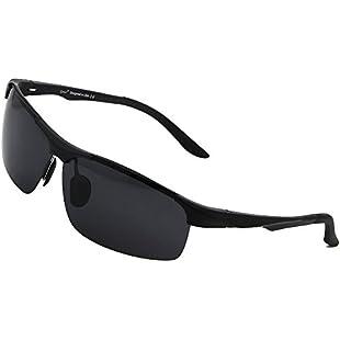 Cyxus Polarized Goggle Riding Glasses Eyewear [Spring Hinge] 100% UVA UVB Protection for Driving Fishing Outdoor Activities, Unisex(Men/Women):Porcelanatoliquido3d