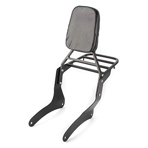 Three T Motorcycle Detachable Passenger Backrest Sissy Bar with Luggage Rack Compatible With Vulcan VN900 Custom Classic 2006-2017