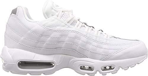 Nike Air Max 95 Essential, Chaussures de Running Mixte, Blanc (White/White/Pure Platinum/Reflect Silver/Black 100), 44 EU