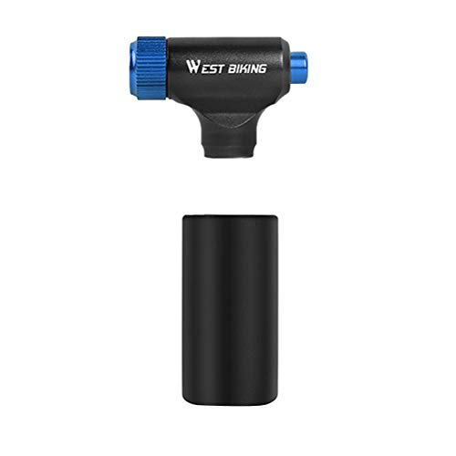 ABOOFAN Inflador inflable CO2 Inflador universal de alta presión Inflador portátil Bomba de aire Bomba de aire Bomba de neumático (negro azul)