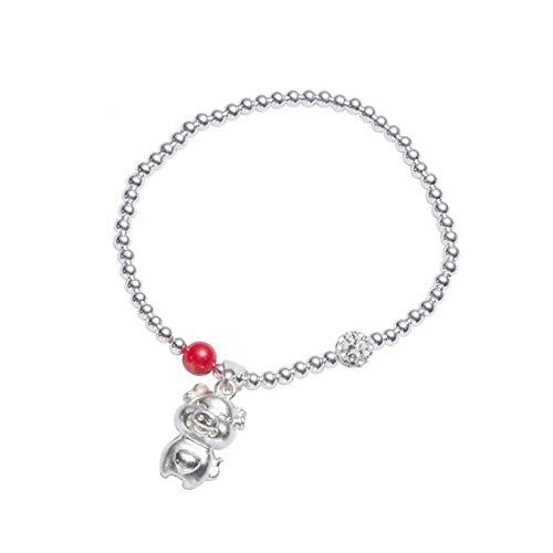 Thumby vrouwen natuurlijke, 925 zilveren dier/dierenriem handgemaakte armband biggen armband S925 originele handgemaakte bal diamant bal varken armband zilveren sieraden vrouwelijke geboorte jaar