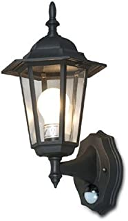Stylish 6-Panel Wall Lantern System W/IR Motion Sensor + Time/Lux Control (Pack of 1)