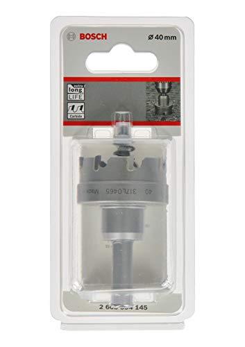 Bosch Professional 2608594145 Sierra de Corona de carburo Precision for Sheet Metal (Acero Inoxidable, diámetro 40mm, Accesorios para Taladro), diámetro 40 mm
