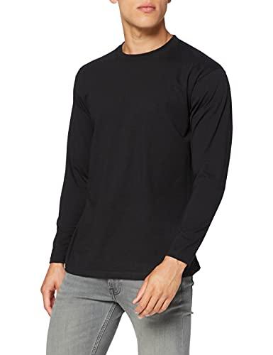 Fruit of the Loom Super Premium Long Sleeve T-Shirt, Nero, M Uomo