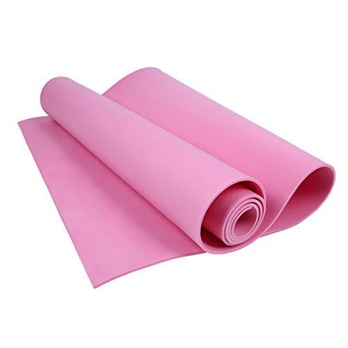 Merssavo Tappetino da Yoga per Palestra da Palestra in Eva Spesso Antiscivolo da 40 mm 173x60 cm Nero/Rosa