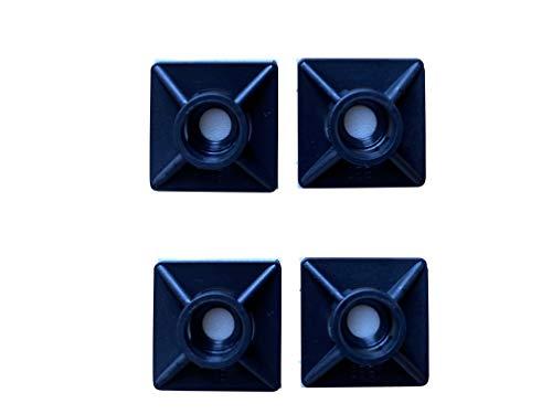 Gocableties Kabelbindergestelle, klebende Befestigungshalterungen, 19 mm x 19 mm, Schwarz, 100 Stück
