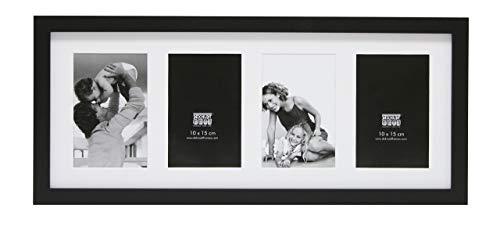Deknudt Frames S66KA4-10.0X15.0 Bilderrahmen, für 4 Bilder, Hochformat, Schwarz 54 x 24 x 2 cm