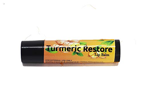 Turmeric Lip balm (3 Pack) Certified Organic & Vegan | Turmeric Restore | Natural Lip Balm | Organic Lip Balm | Natural Lip Balm | Lip Moisturizer | 100% Natural Ingredients | Habbie Beauty Supplies