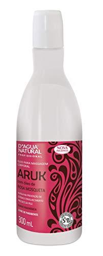 Óleo de Massagem Aruk Rosa Mosqueta, D'agua Natural, 300 mL