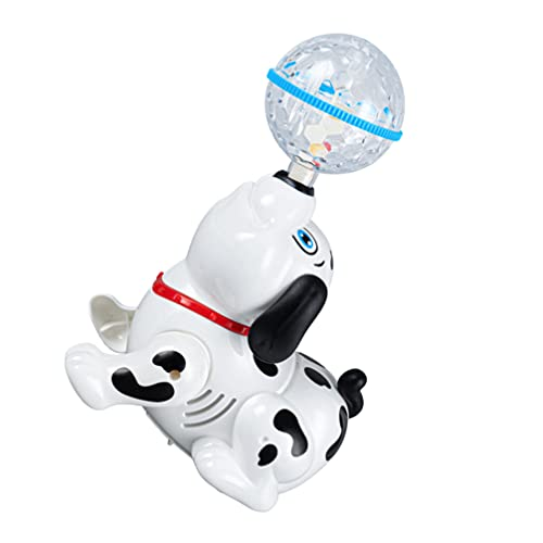 Kisangel Électrique Chant Danse Jouet Chien Jouet Musical Chiot Robot Marcheur Jouet Tournant Enfants Interactif Intelligent Jouet Éducatif pour Enfants de Âge ( Pas de Batterie )