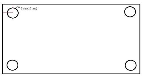 Edelstahlplatte Ankerplatte Blechplatte 150x100x5 mm (ohne Bohrung)