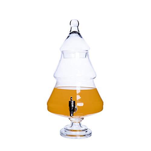 PETAAA Botella de bebida, restaurante multiusos para hotel, vino y jugo de almacenamiento con grifo de cerveza de autoservicio y frascos de vidrio medicinales (Color: H)
