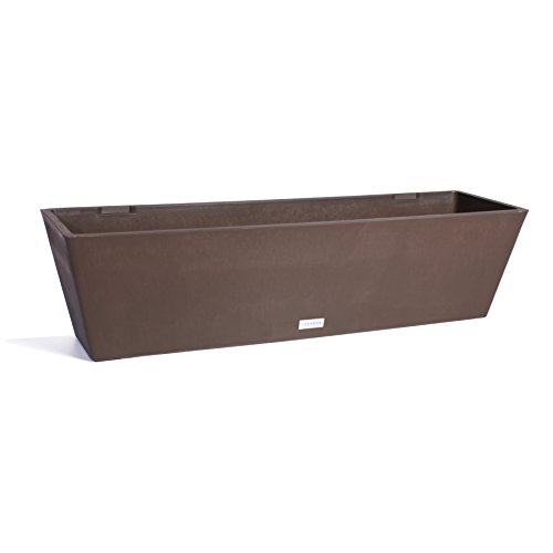 Veradek Brooklyn Rectangular Window Box Planter, 9-Inch Height by 10-Inch Width by 36-Inch Length, Espresso (WBV36E)