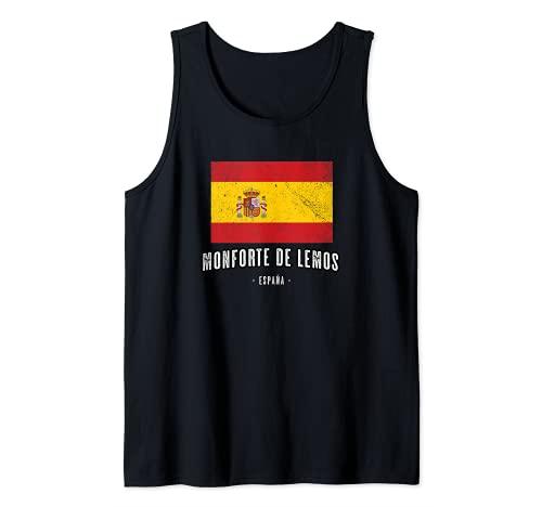 Monforte de Lemos España   Souvenir - Ciudad - Bandera - Camiseta sin Mangas