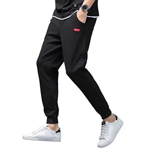 Barifall メンズ ジャージ 下 ジョガーパンツ スウェットパンツ ランニングウェア ズボン xk88 ブラック L