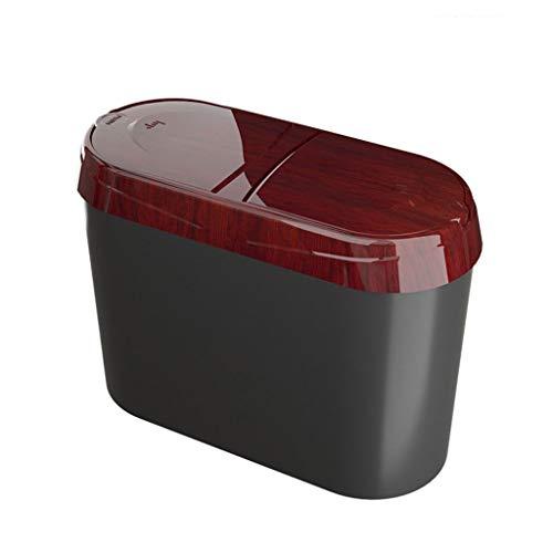 DEF Bote de Basura Simple y Elegante para Coche, Cubo de Basura para Colgar, pequeño Cubo de Almacenamiento con Tapa para la Primera Fila del Coche y Escritorio (Color : M-6)