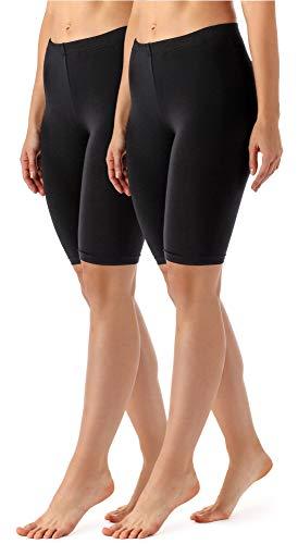 Merry Style Lote de 2 Leggins Cortos Mallas Deportivas Mujer MS10-145 (Negro/Negro, XS)
