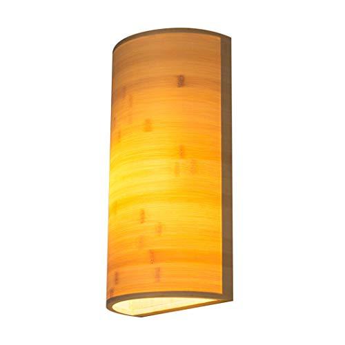 Aozu Aplique de Pared de ratán rústico Vintage lámpara de Pared de bambú lámpara de Pared de Mimbre Sala de Estar Bar cafetería Comedor Pasillo Dormitorio Granja Interior lámpara de bambú, E27