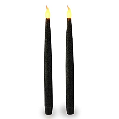 Furora LIGHTING LED Taper Candles, Flameless Taper Candles, Battery Operated Taper Candles, Electric Flickering and Dripless Led Candlesticks with 6 Hour Timer Function