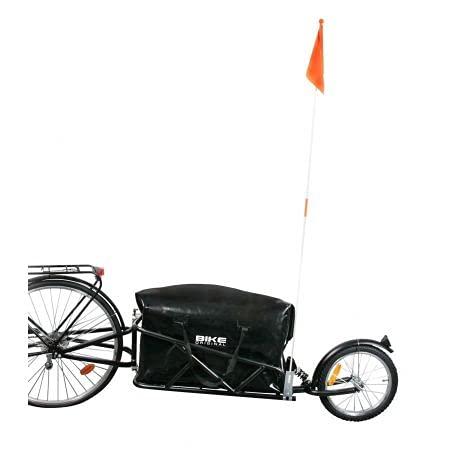 BIKE ORIGINAL Fahrradanhänger Mono Rad mit Stoßdämpfer