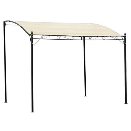 CFG Outdoor Garden Gazebo, Outdoor Garden Pergola Canopy,Folding Tent, Cream White Fabric and Steel Structure 3 x 2.5 m