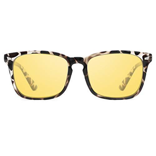 TIJN Night Vision Driving Glasses for Women Men Polarized Anti-Glare Sunglasses