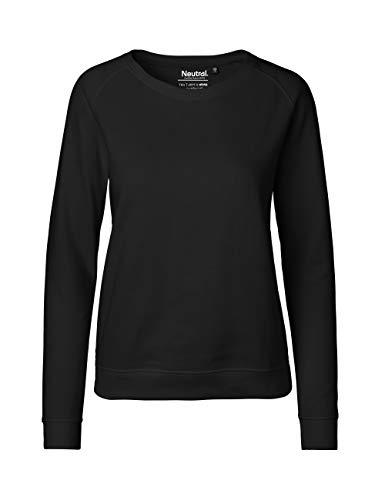 Green Cat- Damen Sweatshirt, 100% Bio-Baumwolle. Fairtrade, Oeko-Tex und Ecolabel Zertifiziert, Textilfarbe: schwarz, Gr.: XL