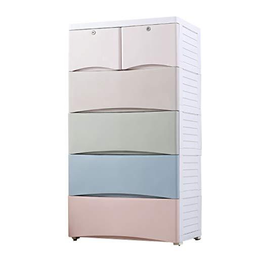 5-stöckiger Großer Schubladenschrank, Kunststoffspind Für Kleidung Kinderspielzeug Verarbeitung 60 * 40 * 114cm