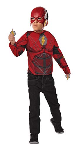 Imagine by Rubie's Child's Justice League Deluxe The Flash Flip 'N Reveal Costume Top Set, Small